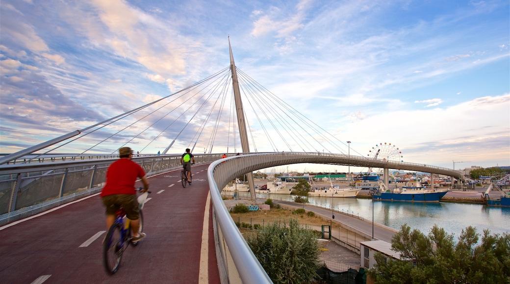 Ponte del Mare caratteristiche di ponte, bicicletta e fiume o ruscello