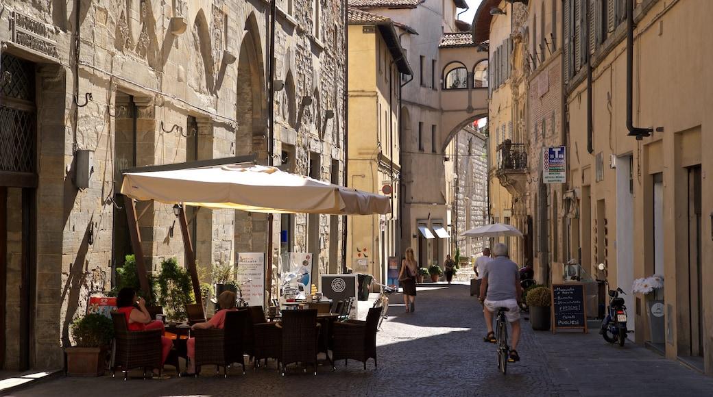 Città di Castello mit einem Fahrradfahren