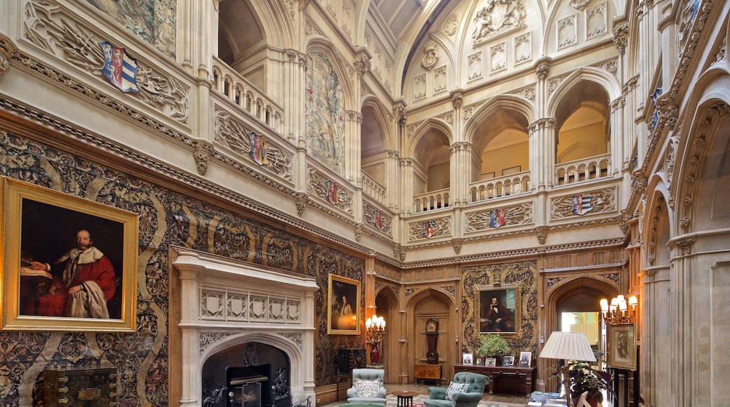 Highclere Castle which includes interior views, heritage elements and art