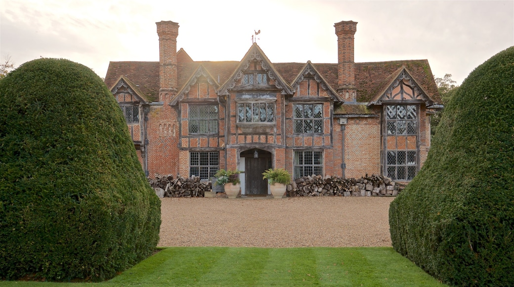 Dorney Court which includes heritage elements, a house and a sunset