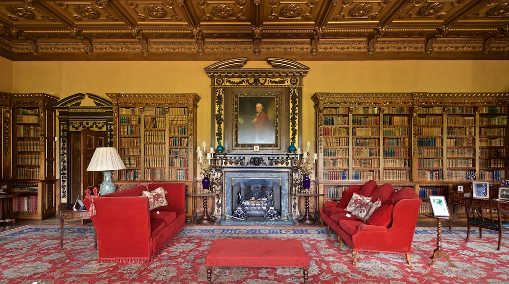 Highclere Castle featuring interior views, a house and heritage elements