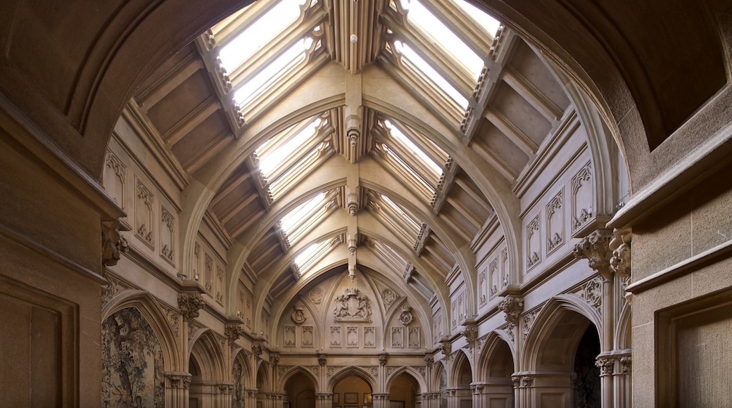 Highclere Castle showing interior views and heritage elements