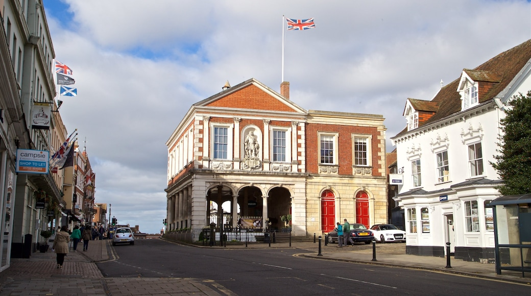 Windsor Guildhall featuring heritage elements
