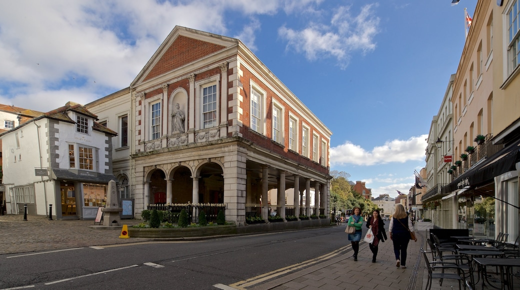 Windsor Guildhall which includes street scenes and heritage elements as well as a small group of people