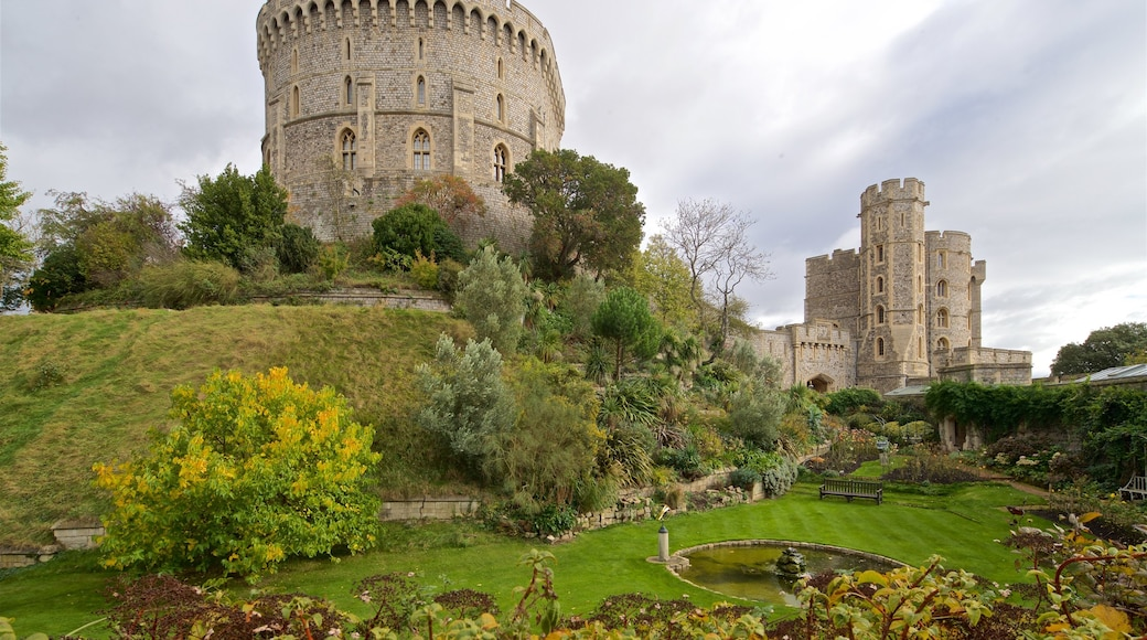 Windsor Castle featuring a castle, heritage architecture and a park