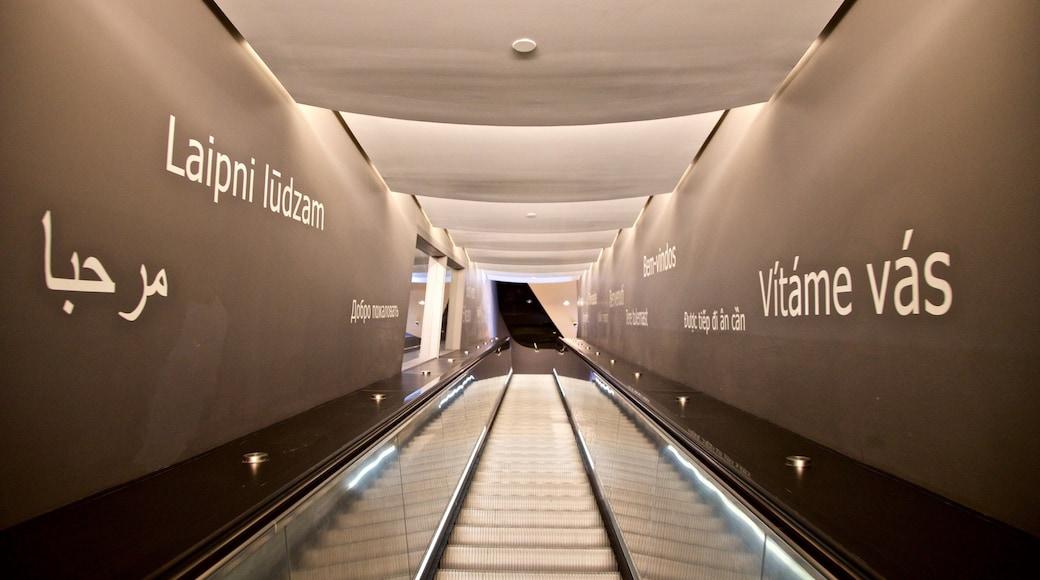 Muhammad Ali Center showing interior views