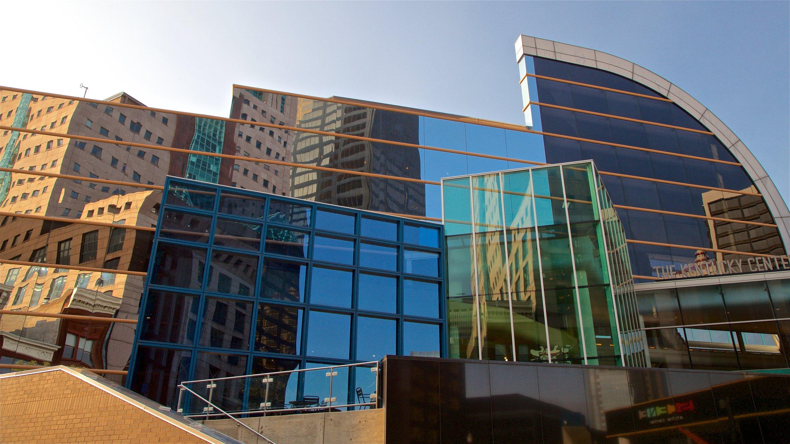 Kentucky Center for the Performing Arts featuring moderni arkkitehtuuri