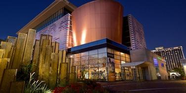Muhammad Ali Center featuring modern architecture and night scenes