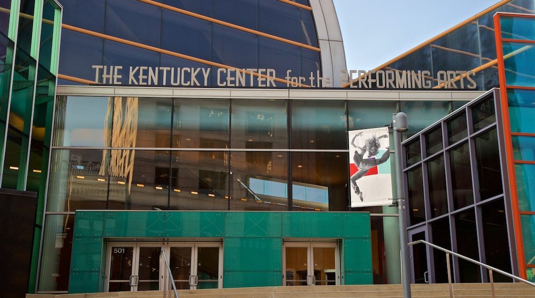 Kentucky Center for the Performing Arts showing signage