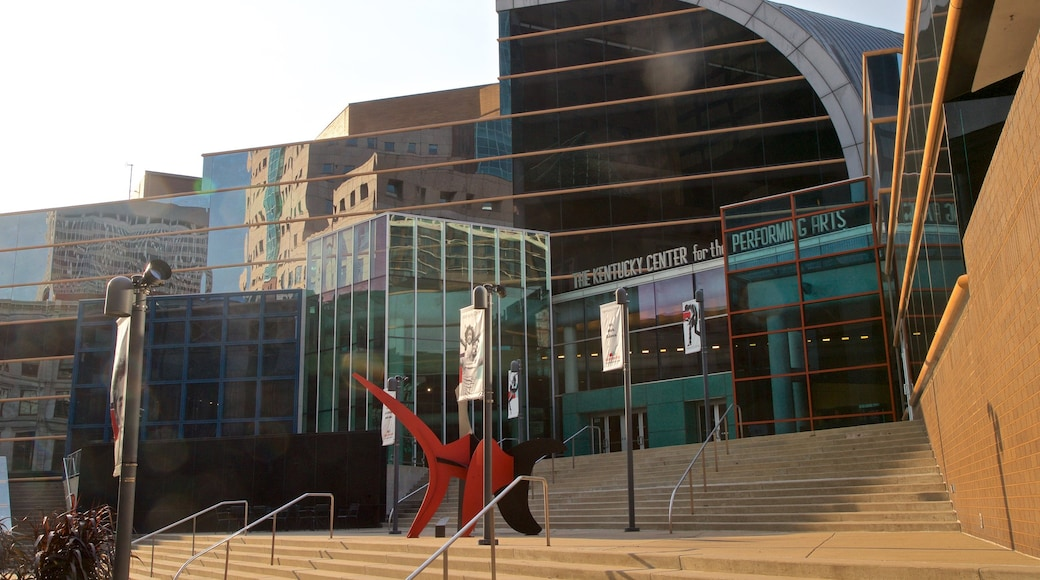 Kentucky Center for the Performing Arts showing outdoor art