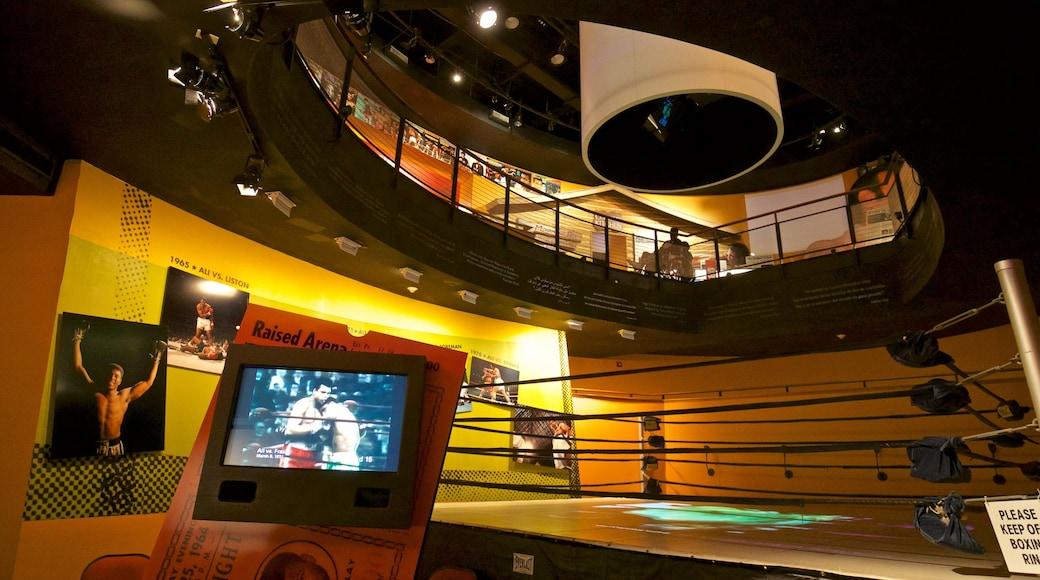 Muhammad Ali Center which includes interior views