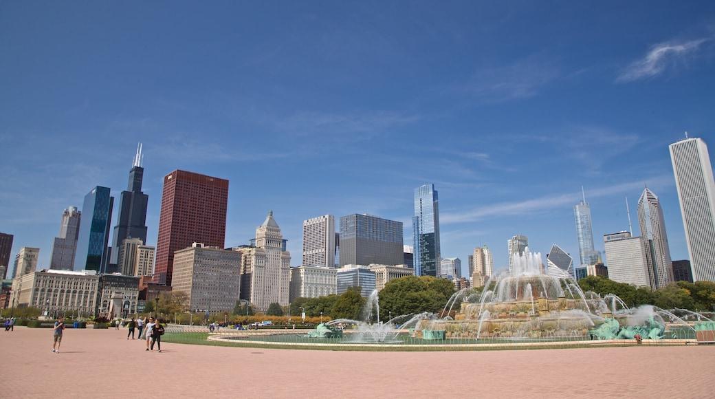 Buckingham Fountain แสดง เมือง, วิวทิวทัศน์ และ ตึกระฟ้า