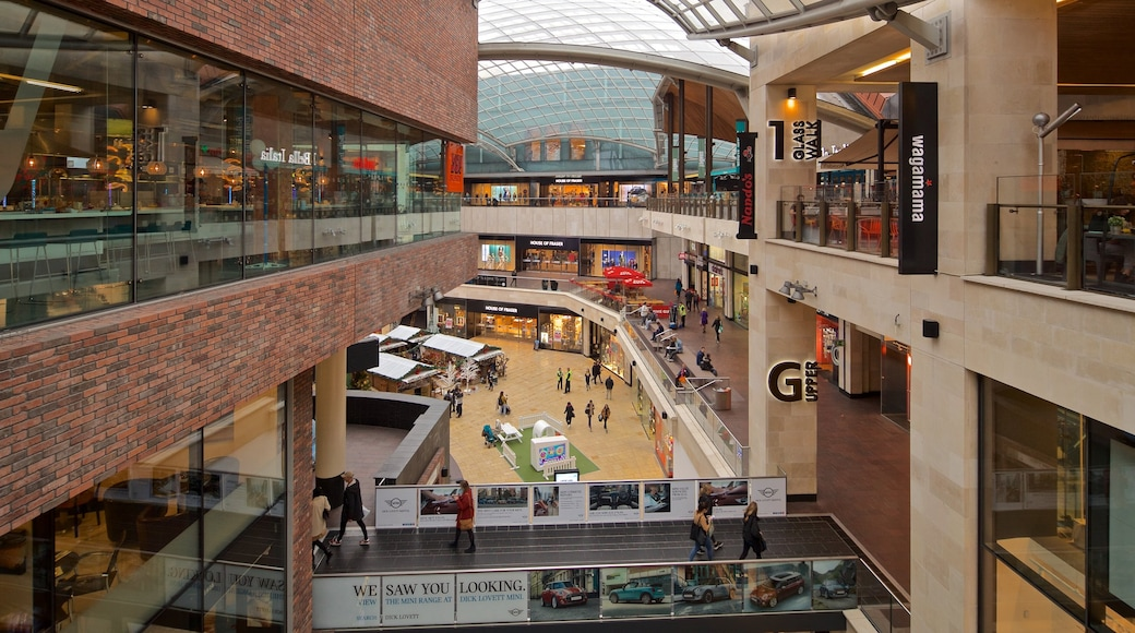 Cabot Circus Shopping Centre which includes interior views and shopping