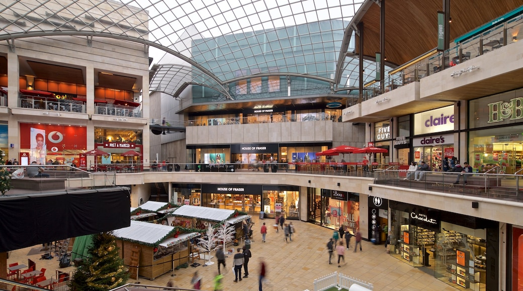 Cabot Circus Shopping Centre showing shopping and interior views