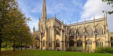 St. Mary Redcliffe Church featuring heritage architecture and a church or cathedral