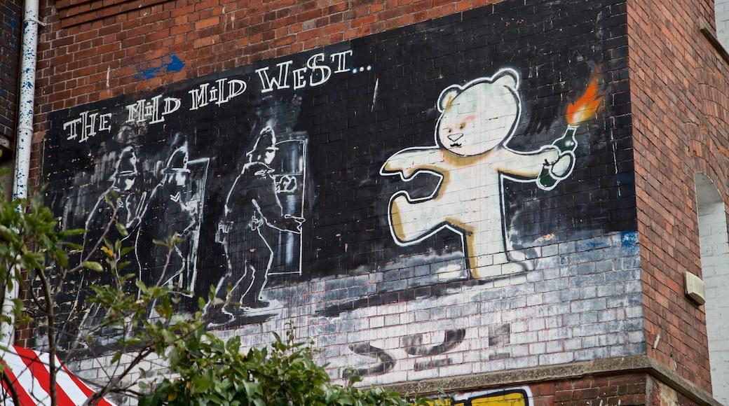 Banksy Graffiti Mild Mild West montrant art en plein air