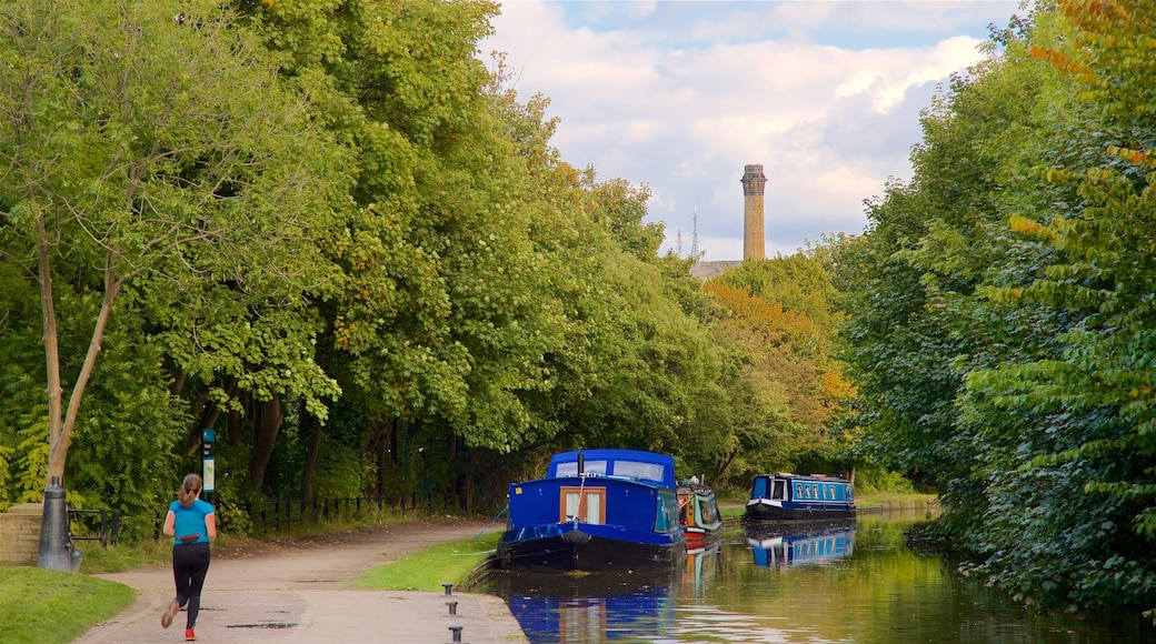 Salts Mill featuring hiking or walking and a river or creek as well as an individual female