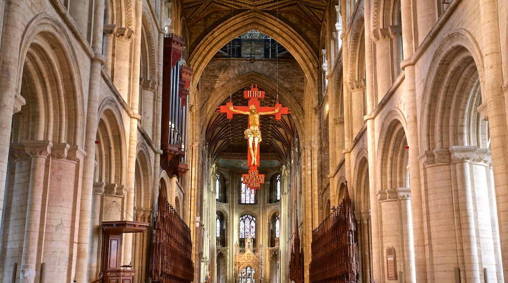 Peterborough Cathedral das einen Kirche oder Kathedrale, Innenansichten und religiöse Aspekte