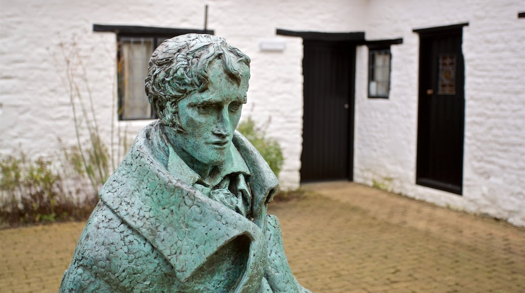 John Clare Cottage which includes a statue or sculpture