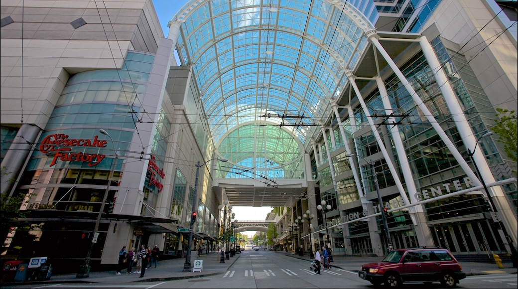 Washington State Convention Center showing a city