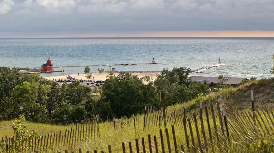 Mt. Pisgah Dune Boardwalk which includes general coastal views