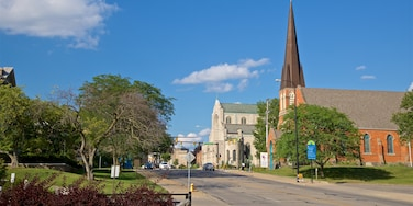 Battle Creek which includes a small town or village and a church or cathedral