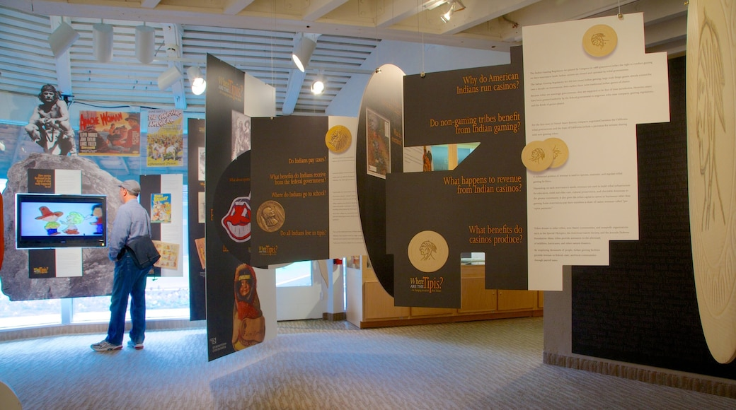 Agua Caliente Cultural Museum which includes interior views as well as an individual male