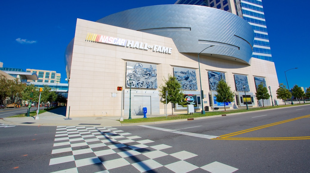 NASCAR Hall of Fame featuring street scenes and a city