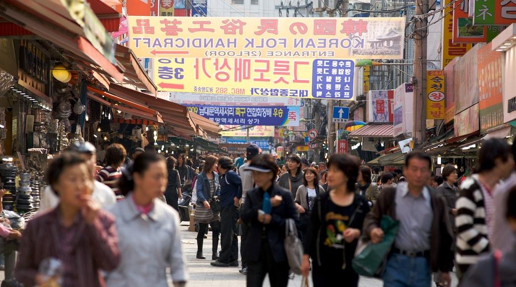 南大門市場 其中包括 市場, 街道景色 和 城市