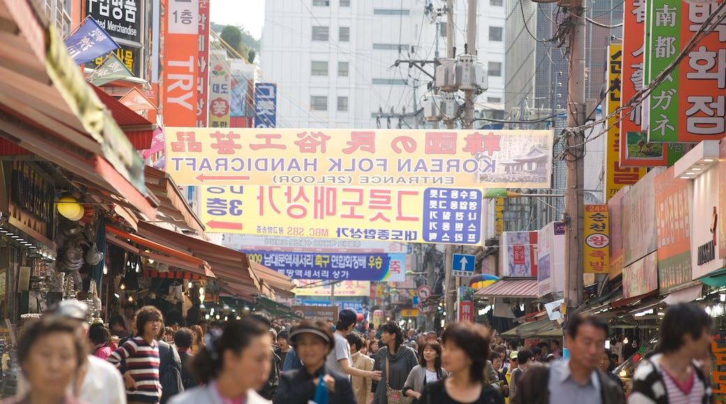 南大門市場 呈现出 指示牌, 市場 和 城市