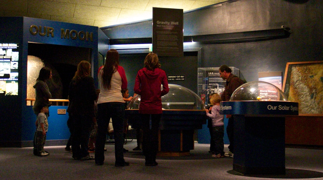 Fleischmann Planetarium and Science Center showing interior views