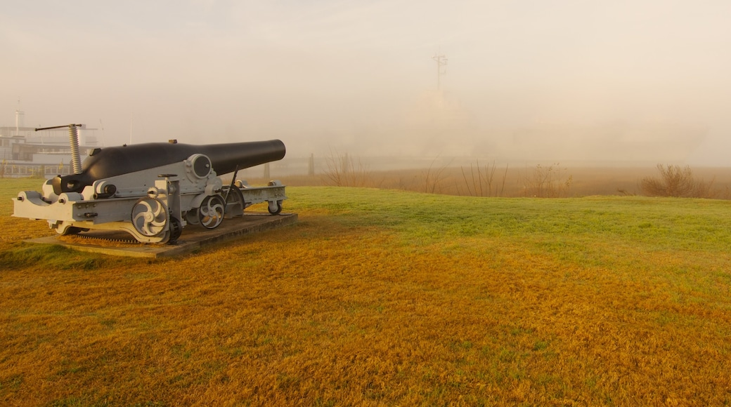 USS Yorktown featuring mist or fog and military items
