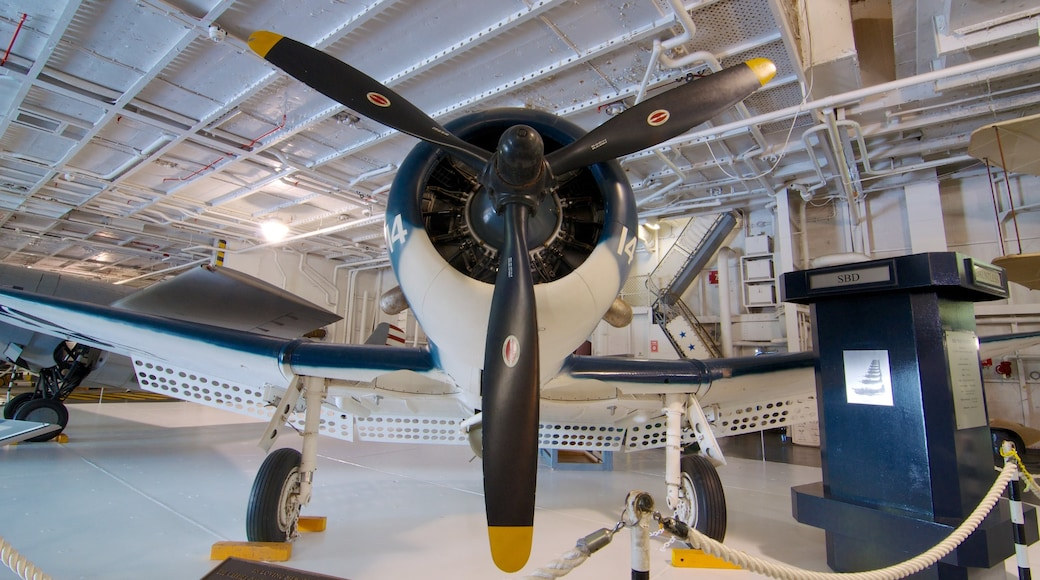 USS Yorktown which includes aircraft and interior views