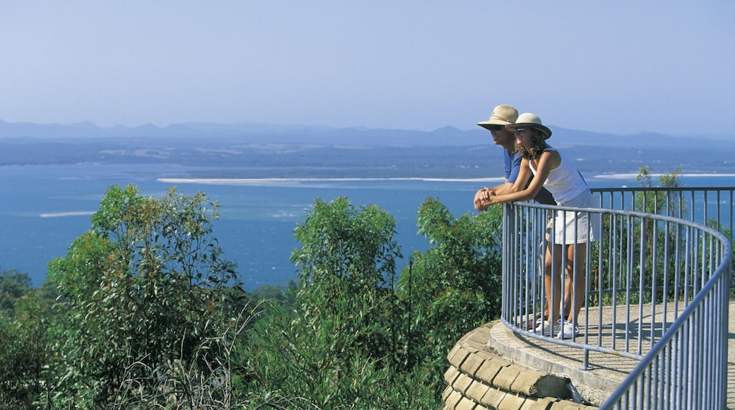 Nelson Bay featuring a bay or harbour and views as well as a couple