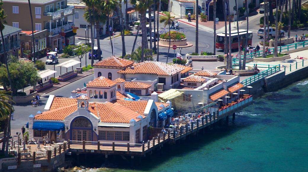 Catalina Island som inkluderar en kuststad