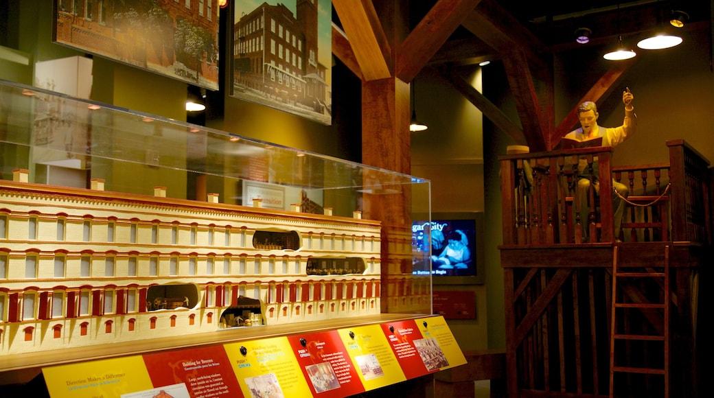 Tampa Bay History Center featuring interior views
