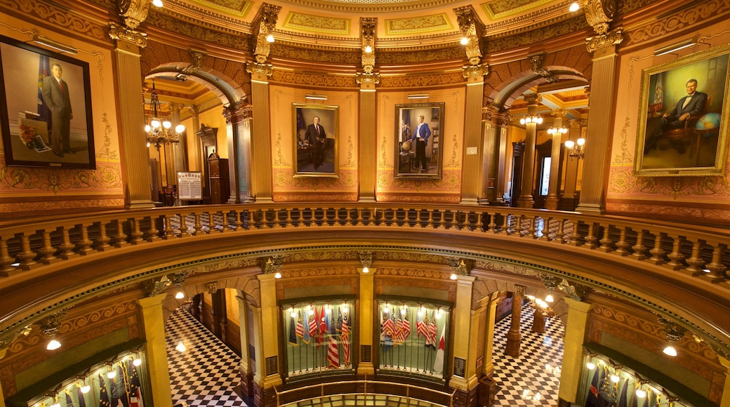 Michigan State Capitol which includes art, interior views and heritage elements