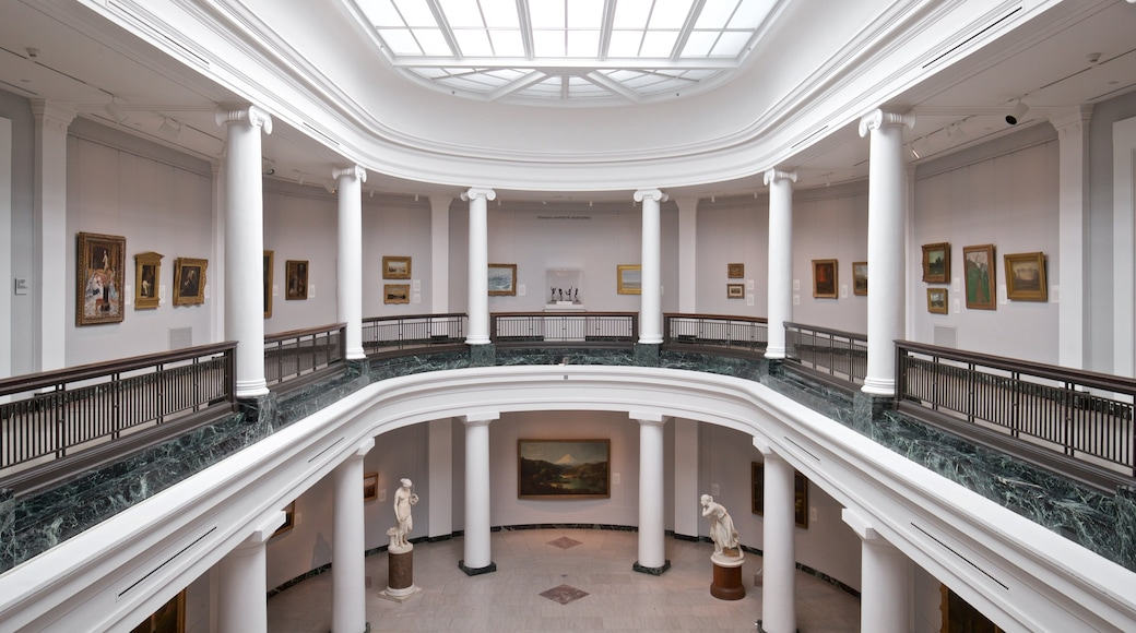 University of Michigan Museum of Art which includes art and interior views