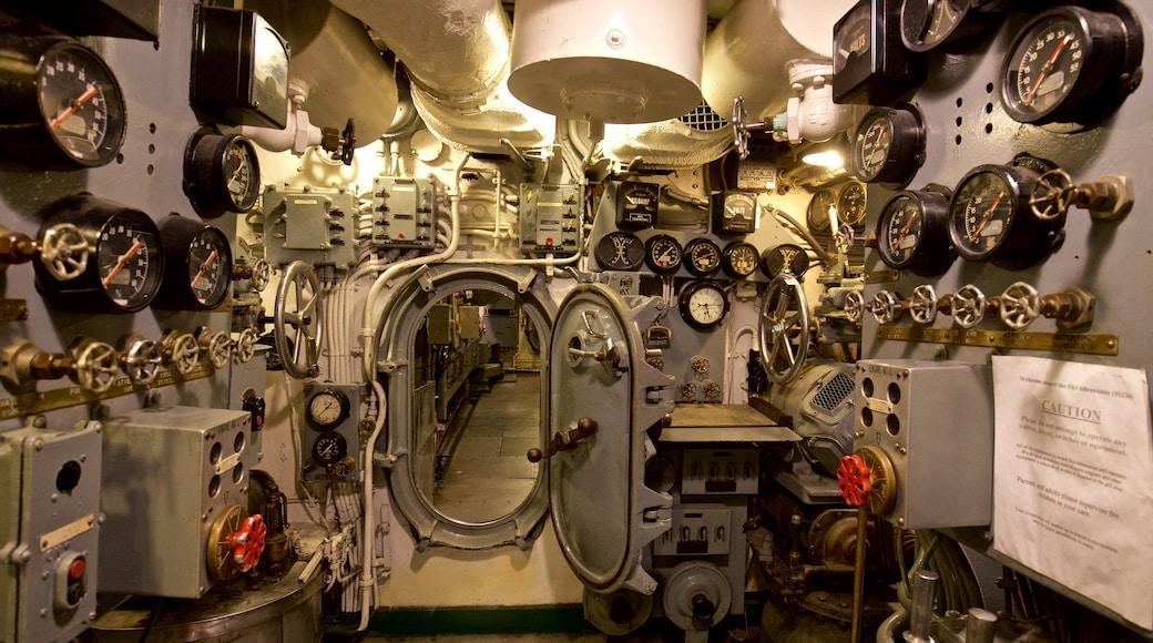 USS Silversides showing interior views