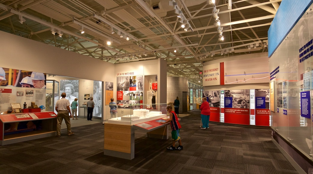 Gerald R. Ford Museum featuring interior views as well as a small group of people