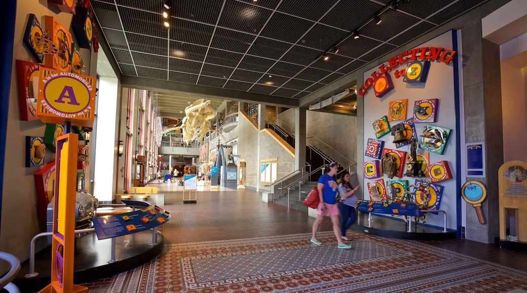 Van Andel Museum Center showing interior views as well as a family