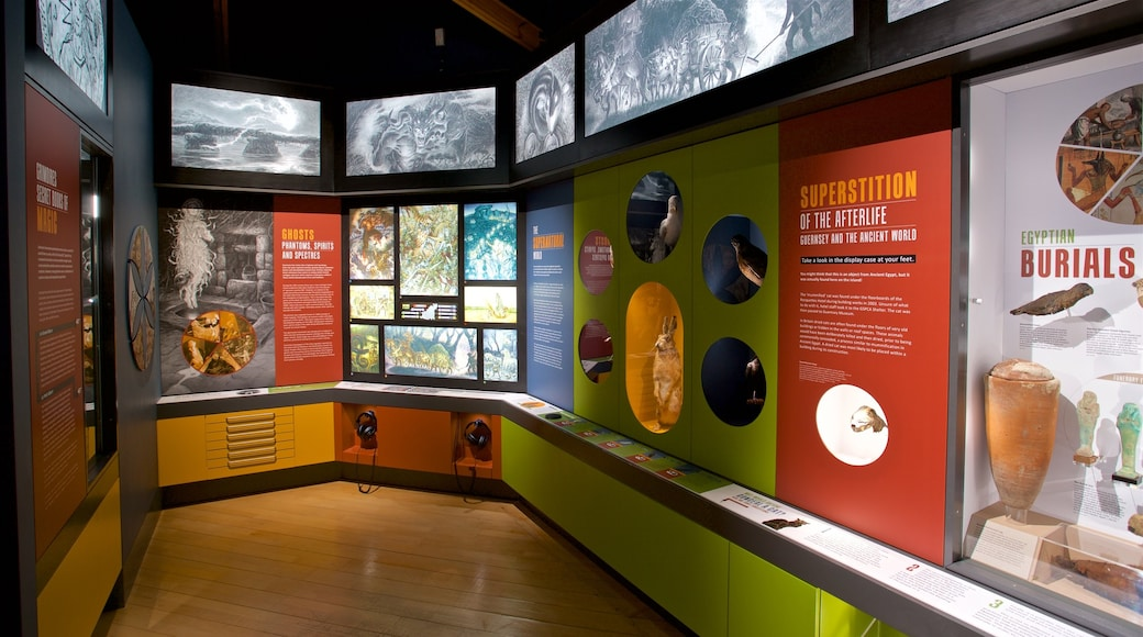Guernsey Museum and Art Gallery caracterizando vistas internas