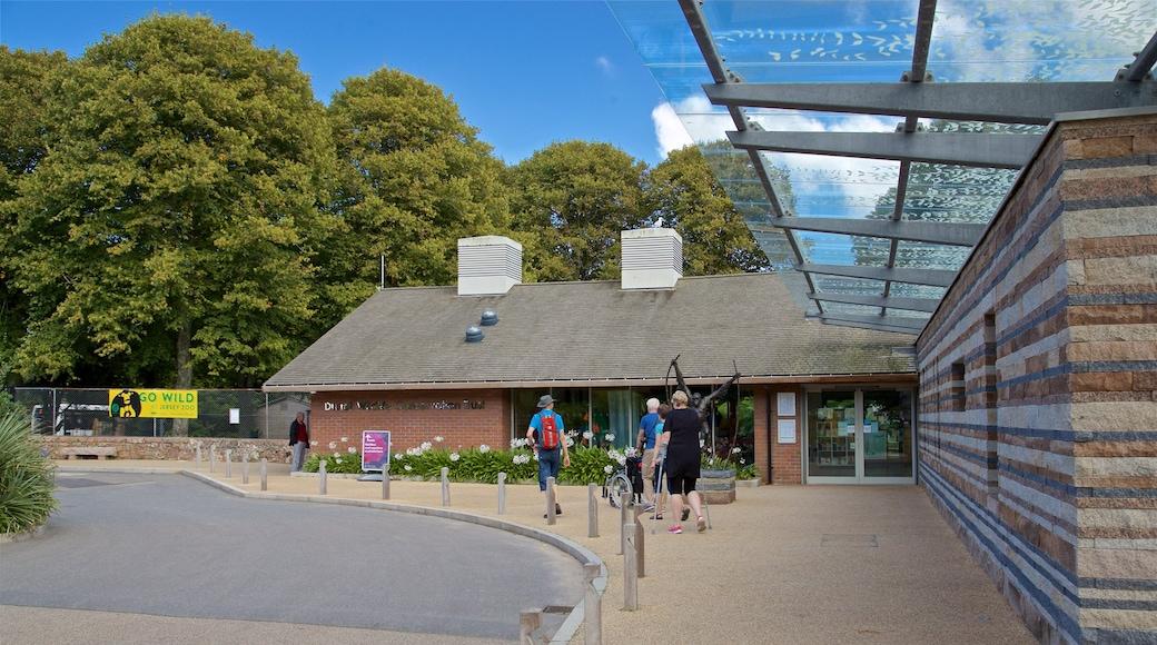 Jersey Zoological Park sekä pieni ryhmä ihmisiä