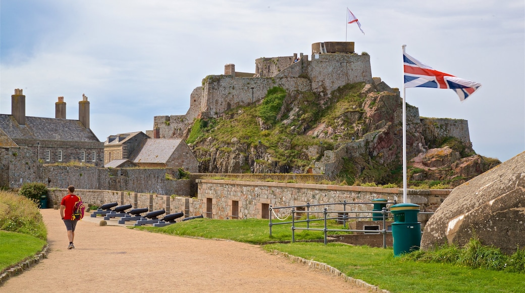 Elizabeth Castle which includes a castle as well as an individual male