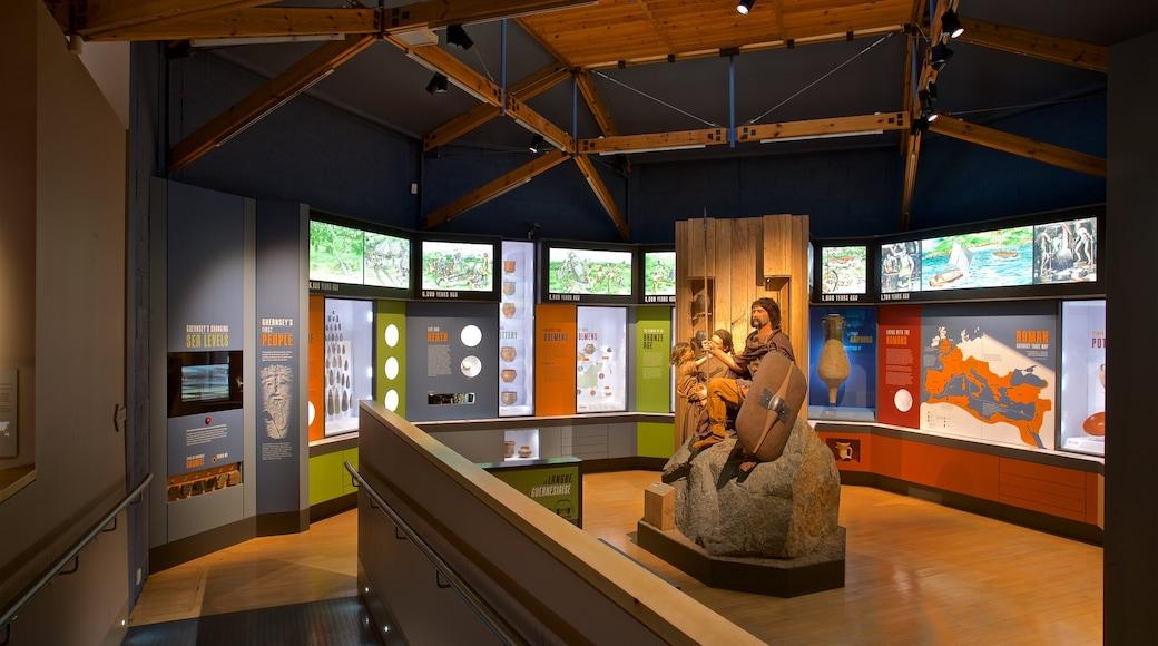 Guernsey Museum and Art Gallery mostrando vistas internas