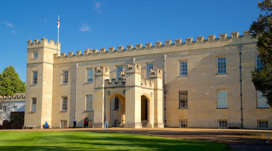 Syon Park showing heritage architecture and a castle