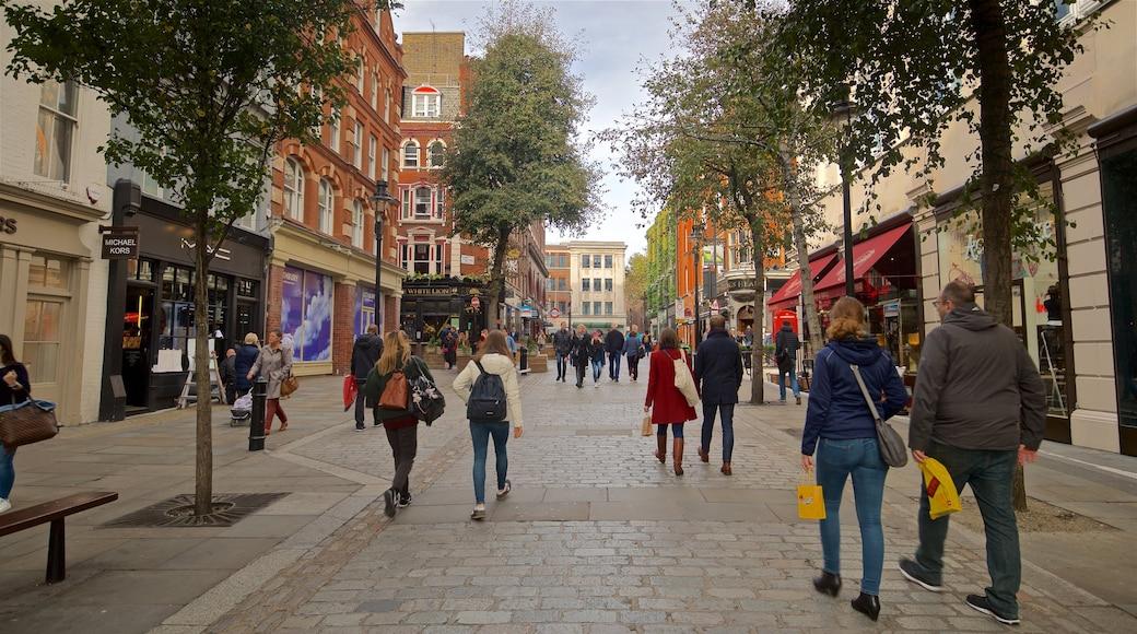 Covent Garden mit einem Stadt und Straßenszenen sowie Paar