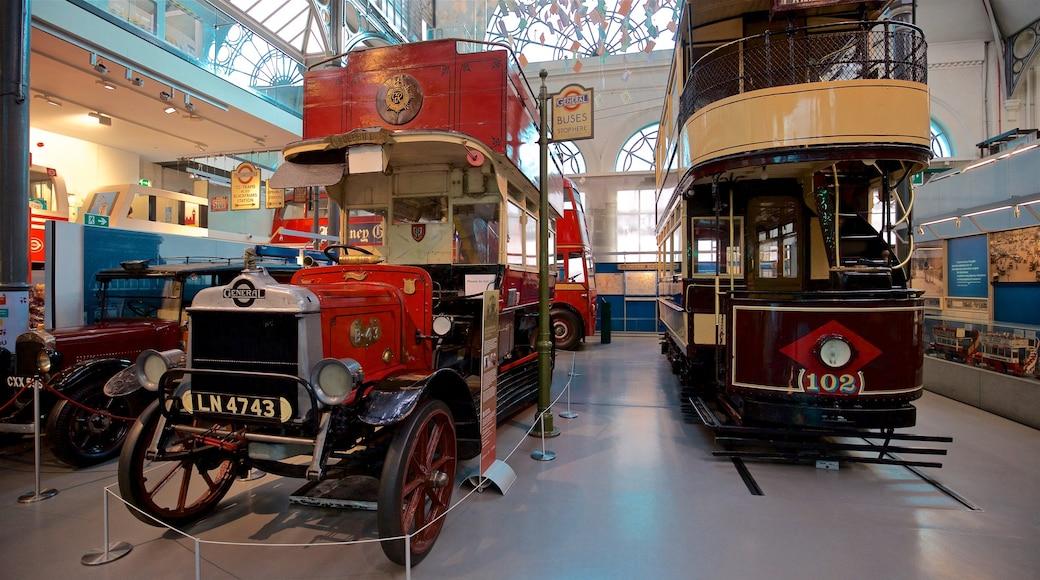 倫敦交通博物館 其中包括 傳統元素 和 內部景觀