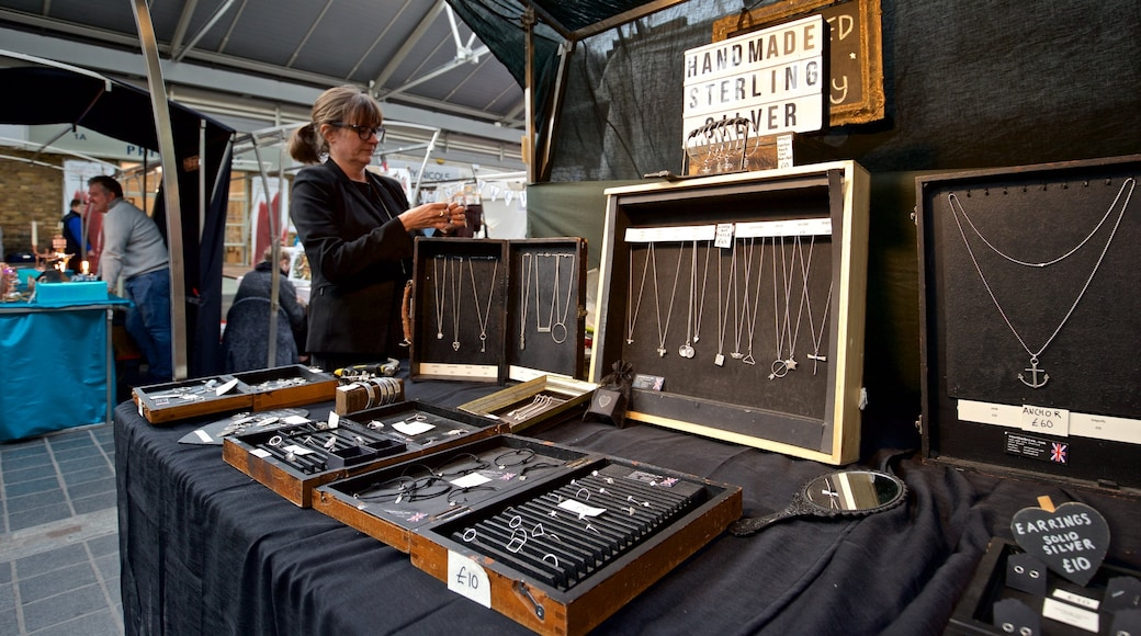 Greenwich Market which includes markets as well as an individual female