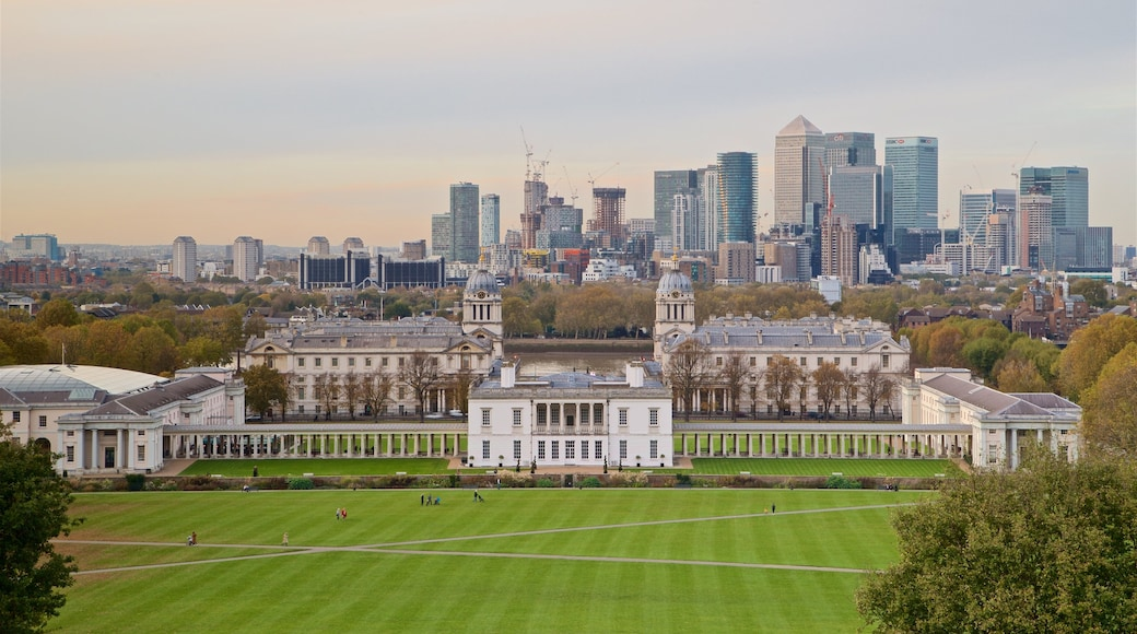 Greenwich Park das einen Stadt, Sonnenuntergang und Garten